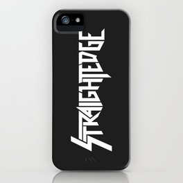 Straight Edge Metal Logo iPhone Case
