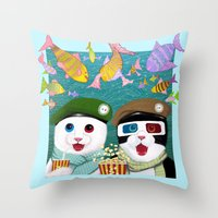 3d Throw Pillows featuring 3D by Tummeow