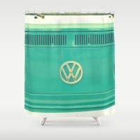 karen Shower Curtains featuring Groovy VW by RDelean