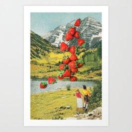 Strawberry Avalanche Art Print