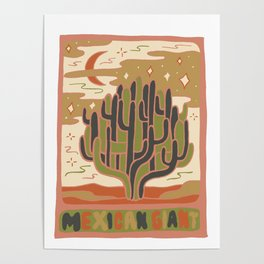 Cactus Tarot Cards- Mexican Giant Poster