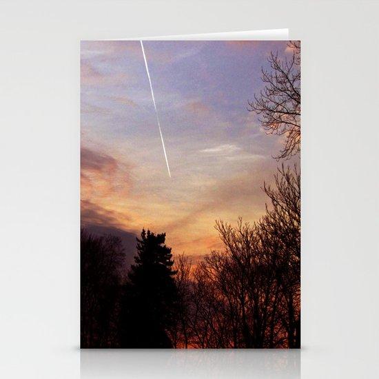 Sunset Streak Stationery Cards