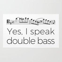 I speak double bass Rug
