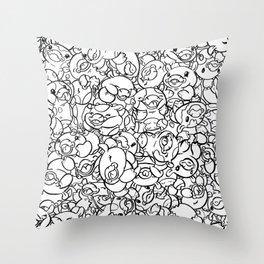 65 Cows Tiled Throw Pillow