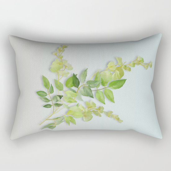 Yellow Tiny Flowers Rectangular Pillow