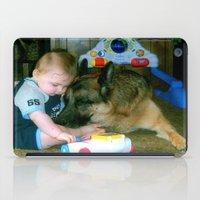 german shepherd iPad Cases featuring German Shepherd Spit Shine by GermanShepherdCrazy