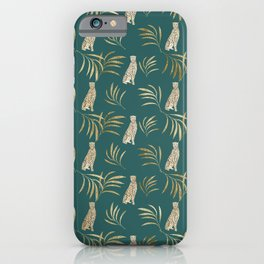 Cheetah Eucalyptus Glam Pattern #3 #tropical #decor #art #society6 iPhone Case