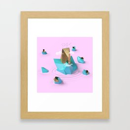 Gold Island Framed Art Print