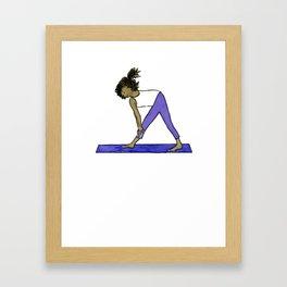 Yoga Folks - Standing Forward Bend.  Framed Art Print