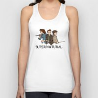 supernatural Tank Tops featuring Supernatural by KewlZidane