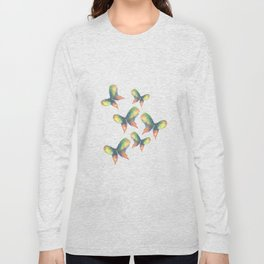 Rainbow Butterflies Long Sleeve T-shirt