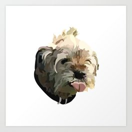 Bruno the Border Terrier Art Print