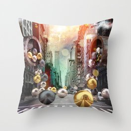 New York City Spill Throw Pillow