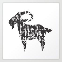 Black Philip V Art Print