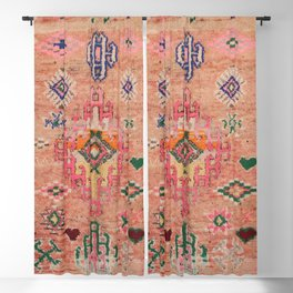 Moroccan Berber Traditional Carpet Blackout Curtain