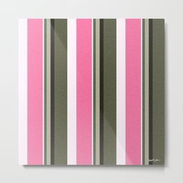 Pink Roses in Anzures 4 Stripes 5V Metal Print