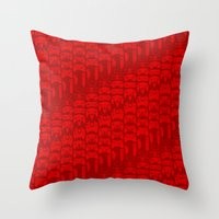 video game Throw Pillows featuring Video Game Controllers - Red by C.Rhodes Design