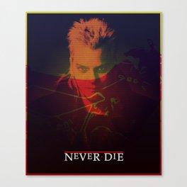 Motorcycle Never Dies Canvas Print