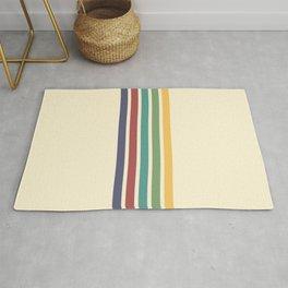 Minimal Abstract Retro Stripes 70s Style - Chacha Rug