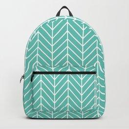 Turquoise Herringbone Pattern Backpack