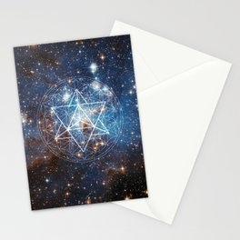 Merkaba in Flower of Life Stationery Cards