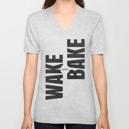 Wake Bake Repeat Unisex V-Neck