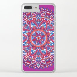 Sunset Mandala Clear iPhone Case