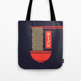 Ramen Japanese Food Noodle Bowl Chopsticks - Black Tote Bag