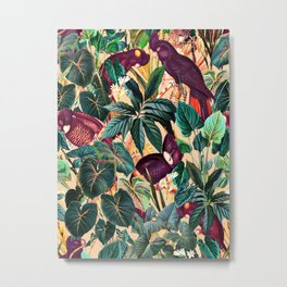 Floral and Birds XLII Metal Print
