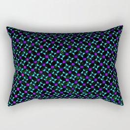 Purple and Light Blue Stars Rectangular Pillow