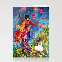 nirvana Stationery Cards featuring Nirvana by Cheryl Braganza