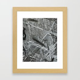 Meteorite structure Framed Art Print
