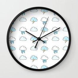 Cloudy Pattern Wall Clock