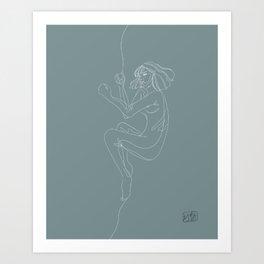 Crumble Art Print