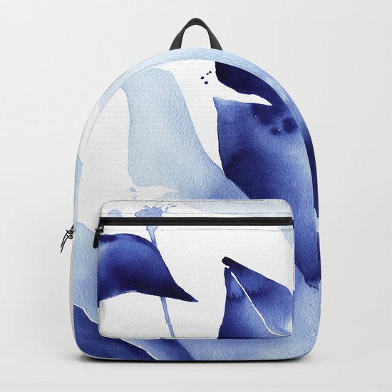 Royal Blue Palms no. 2 Backpack