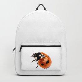 Ladybug on white background #decor #society6 Backpack