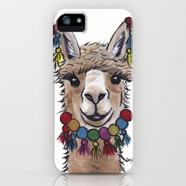 Alpaca with Tassels, colorful Alpaca Art iPhone Case