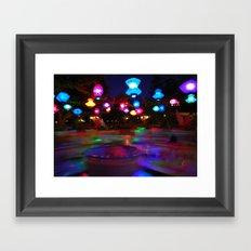 Teacups Blur at Night Framed Art Print