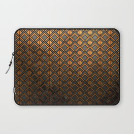 Cascading Squares Copper and Black - Art Deco Pattern Laptop Sleeve