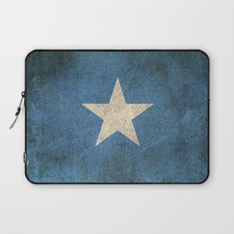 Old and Worn Distressed Vintage Flag of Somalia Laptop Sleeve