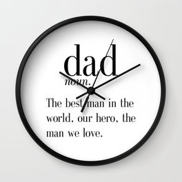 Dad Definition Print, Father's Day Gift, Funny Dad Gift, Wall Art, Digital Print, Instant Download, Wall Clock