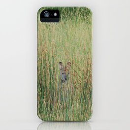 Playing hide and seek iPhone Case