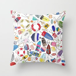 Buoy Collection Throw Pillow