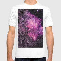 galaxy Pink Purple White MEDIUM Mens Fitted Tee