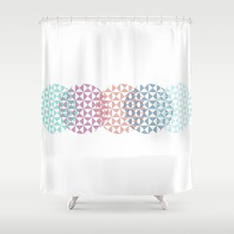 overlapping circles Shower Curtain