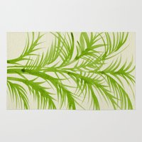 lime Area & Throw Rugs featuring Lime Palms by Cat Coquillette