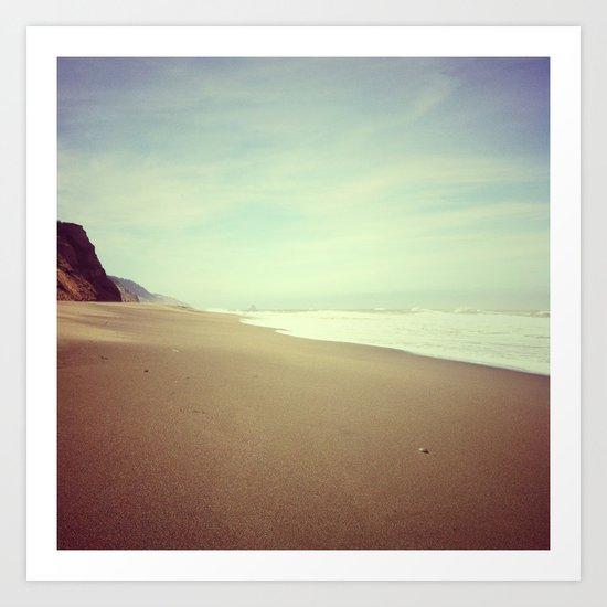 Empty Beach, Humboldt County, CA Art Print