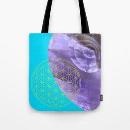 Mystical Flower of Life Amethyst #society6 Tote Bag