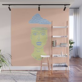 Head in the Clouds Wall Mural