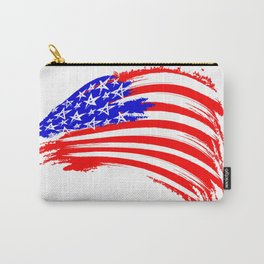 USA Sketched Flag Carry-All Pouch